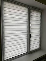 Рулонні штори день-ніч тканина Льон Flax бежевий BH 09