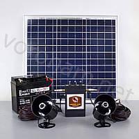 Звуковий відлякувач птахів Коршун-8 SOLAR з акумулятором /Звуковой отпугиватель Коршун-8 SOLAR с аккумулятором, фото 1