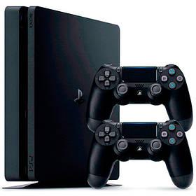 Ігрова консоль Sony PlayStation 4 PRO 1 TB з 2 геймпадами (Black)