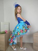 Платье нарядное со шлейфом  для девочек