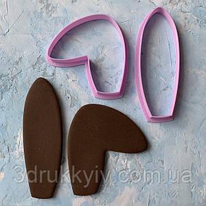 """Вирубки для пряників """"Вушка кролика #5"""", набір / Вырубки - формочки для пряников """"Ушки #5"""", набор"""