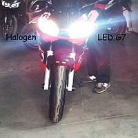Установка светодиодных ламп в головной свет в мотоцикл Yamaxa R6 1