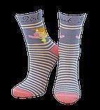 Шкарпетки дитячі Kid Step 809 дівчинка з написом sweet gerl grey, фото 2
