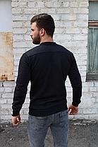 Чоловіча кофта бомбер Ромбик, чорного кольору на блискавці без капюшона, фото 2