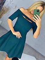 Платье с приспущенными плечами женское БУТЫЛКА (ПОШТУЧНО), фото 1