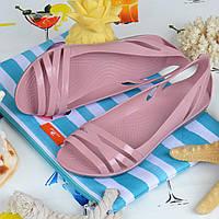 Балетки женские кроксы Clogs Huarache пудровые облегченные, Розовый, 41