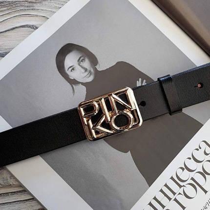 Женский кожаный ремень Пинко реплика Черный, фото 2