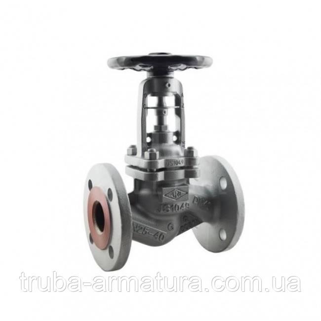 Клапан запорный фланцевый ARI-FABA-Plus 23.046 Ду 100 (сильфон) PN 25