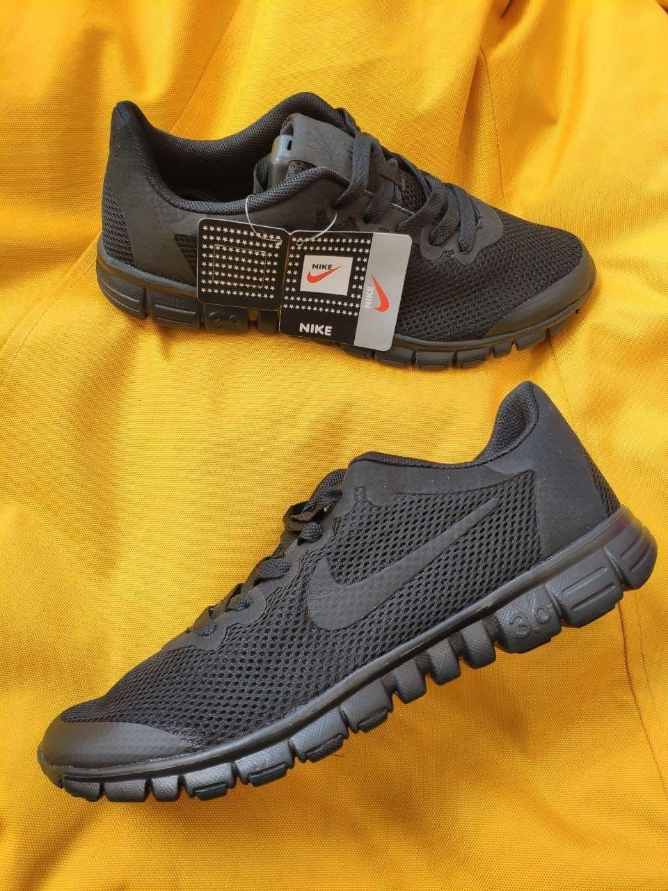 Мужские кроссовки Nike Free Run 3.0 (черные) стильные спортивные кроссы для бега D99
