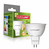 Светодиодная диммируемая EUROLAMP LED Лампа ЕКО dimmable MR16 5W GU5.3 4000K