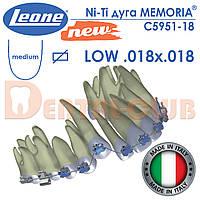 Дуга Ni-Ti на нижню щелепу із памяттю форми, прямокутна, Memoria Leone (Леоне), Італія,1 шт LW18-18
