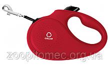 Поводок-рулетка Collar (Коллар) для собак до15 кг лента 5 м S, красная