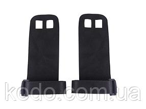 Кожаные Гимнастические накладки на ладони UForce BLACK series