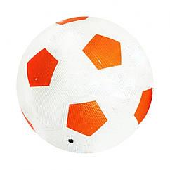 М'яч футбольний гумовий BT-FB-0203 розмір 5 (Помаранчевий)