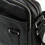 Сумка планшет мужская кожаная через плечо DR. BOND черная (06-101), фото 3