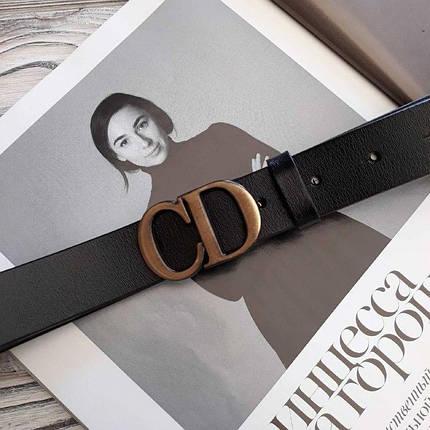 Женский кожаный ремень Диор реплика Черный, фото 2