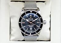 Breitling Heritage Superocean Mechanical A1320C Black AAA механические часы мужские наручные на кольчуге