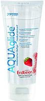 Оральный лубрикант AQUAglide strawberry клубника