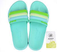 Шлепанцы женские мятные Flip flops Bubble TM Bona, Мятный, 37