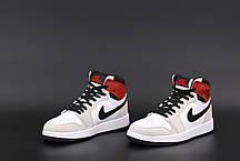 Женские кроссовки Nike Air Jordan. Бежевый. ТОП Реплика ААА класса., фото 3