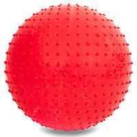 Мяч для фитнеса (фитбол) массажный 75см PS, цвета в ассортименте