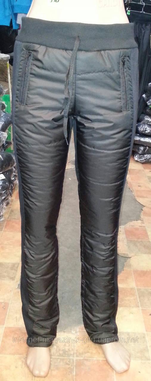 Стеганные большие женские зауженные брюки на синтепоне . - Интернет-магазин
