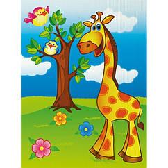 """Роспись по холсту.  """"Весёлый жирафик"""" 7100/1, 18х24 см"""