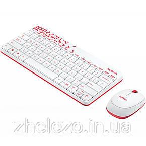 Комплект (клавіатура, миша) бездротовий Logitech MK240 White USB (920-008212), фото 2