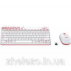 Комплект (клавіатура, миша) бездротовий Logitech MK240 White USB (920-008212), фото 3