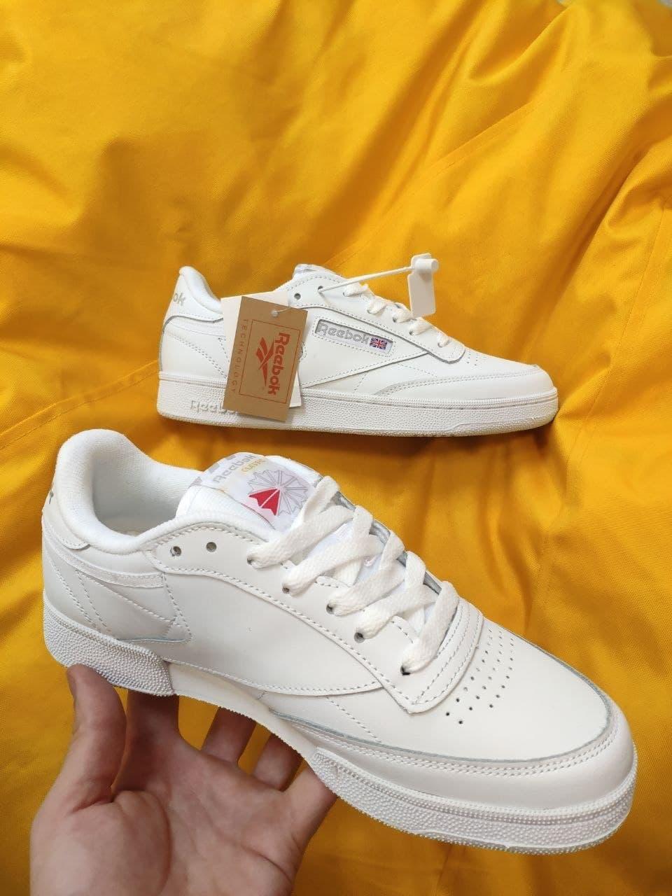 Мужские кроссовки Reebok Classic Club C (белые) D96 стильные спортивные кроссы