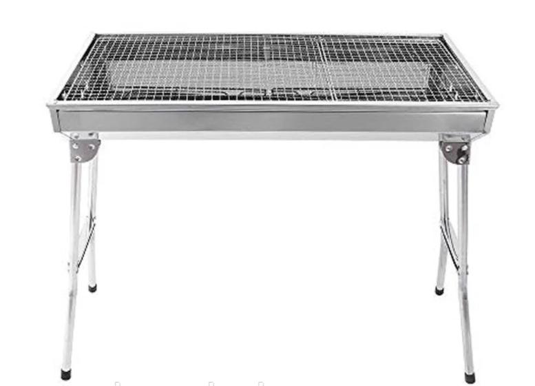 Переносной мангал BBQ-5002 Портативный мангал гриль барбекю 48х34х59см угольный металлический на пикник