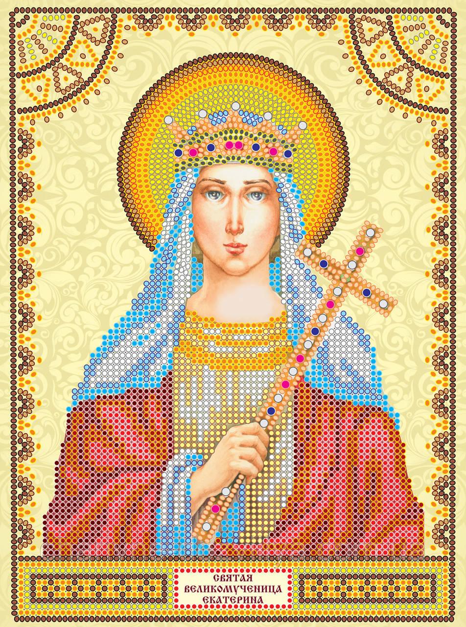 Схема для вышивки бисером икона Святая Екатерина