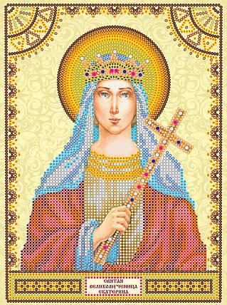 Схема для вышивки бисером икона Святая Екатерина, фото 2