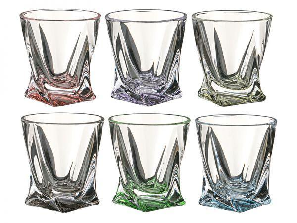 Набір склянок 340 мл 6 шт Quadro Bohemia 99999/72T76/340