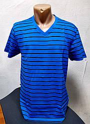 Мужская полосатая футболка Батал