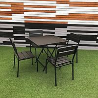 """Комплект мебели """"Рио Солид Флекс"""" Венге 1 стол + 4 стула, фото 1"""