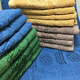 Полотенце банное Бамбук 140x70cm (300г/м2) синее, фото 8