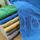 Полотенце банное Бамбук 140x70cm (300г/м2) синее, фото 6