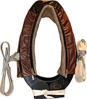 Упряжь ОДНО-конная (ОК) с хомутом (№1-5) (комплект) кожа сыромятная, фото 1