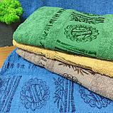 Полотенце банное Бамбук 140x70cm (300г/м2) синее, фото 7