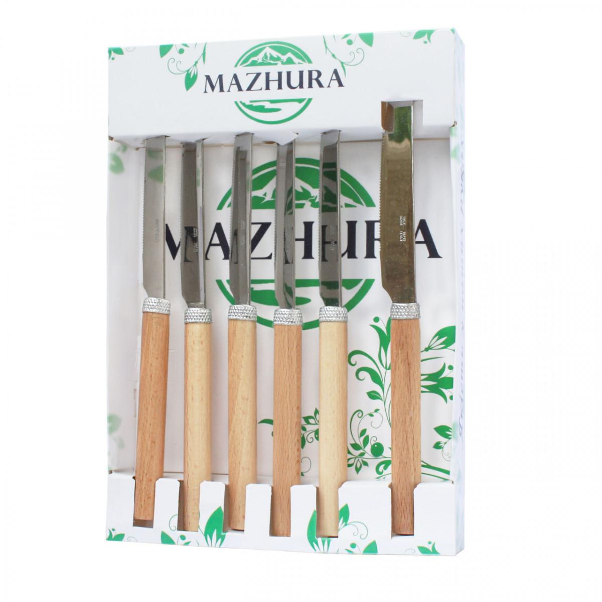 Набор столовых ножей Mazhura Beech Wood MZ-505669 6 шт