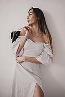 Женское платье с рукавами фонариками