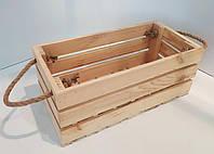 Ящик деревянный с боковыми ручками