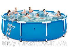 Каркасный бассейн , лестница, Bestway 5612U , 427*132 см