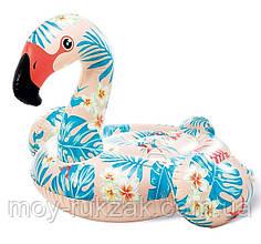 Надувной плотик для катания «Фламинго», Intex 57559  142*137*97 см
