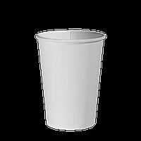 """Одноразовий стакан, серія """"Білий"""", 340мл. 50шт/уп (1ящ/40уп/2000шт) під кришку КВ80"""
