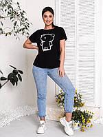 Легка універсальна жіноча футболка батал, фото 1