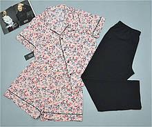 Пижама тройка рубашка шорты штаны Este размер 48-50-52-54.