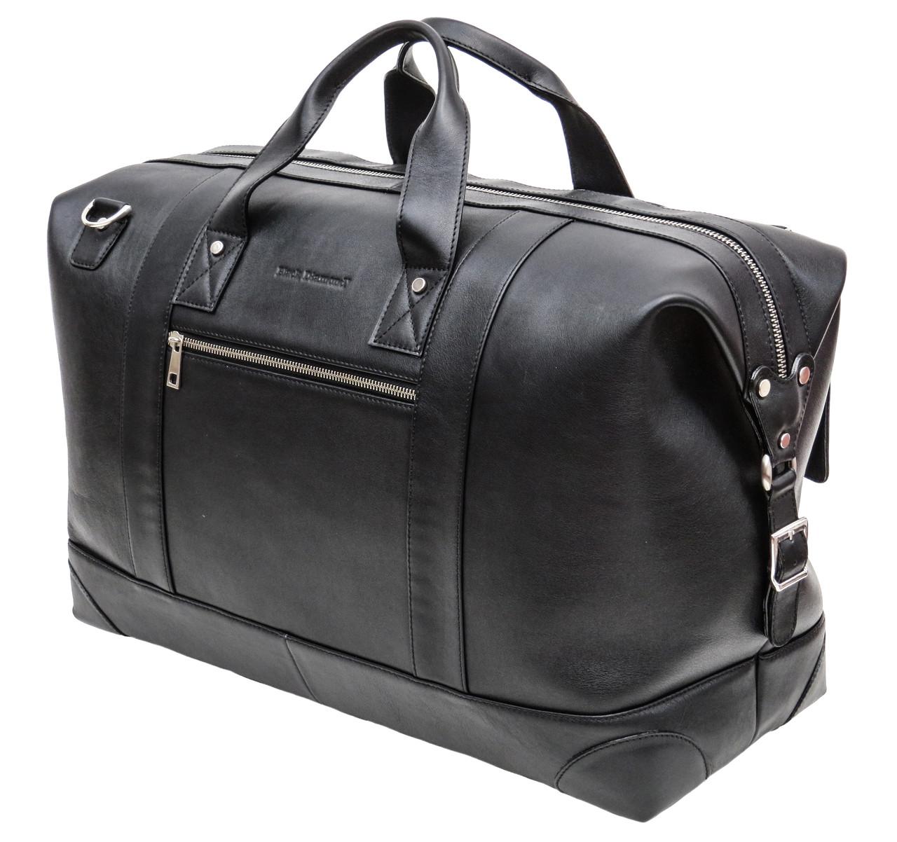 Большая дорожная сумка Black Diamond из натуральной кожи