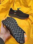 Мужские кроссовки Puma без шнурков (черно-оранжевые) D91 летние легкие спортивные кроссы, фото 3
